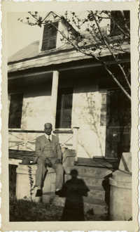 Herbert U. Seabrook, Sr. sitting on porch