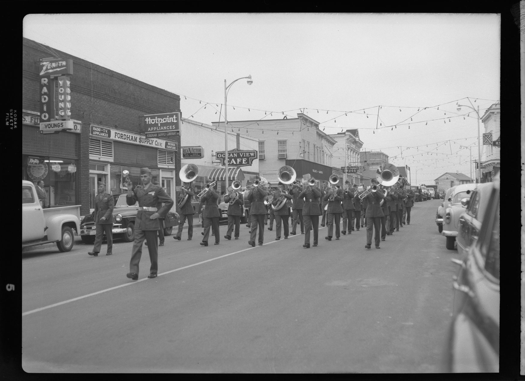Marine Corps Band marches in the Parade of Death