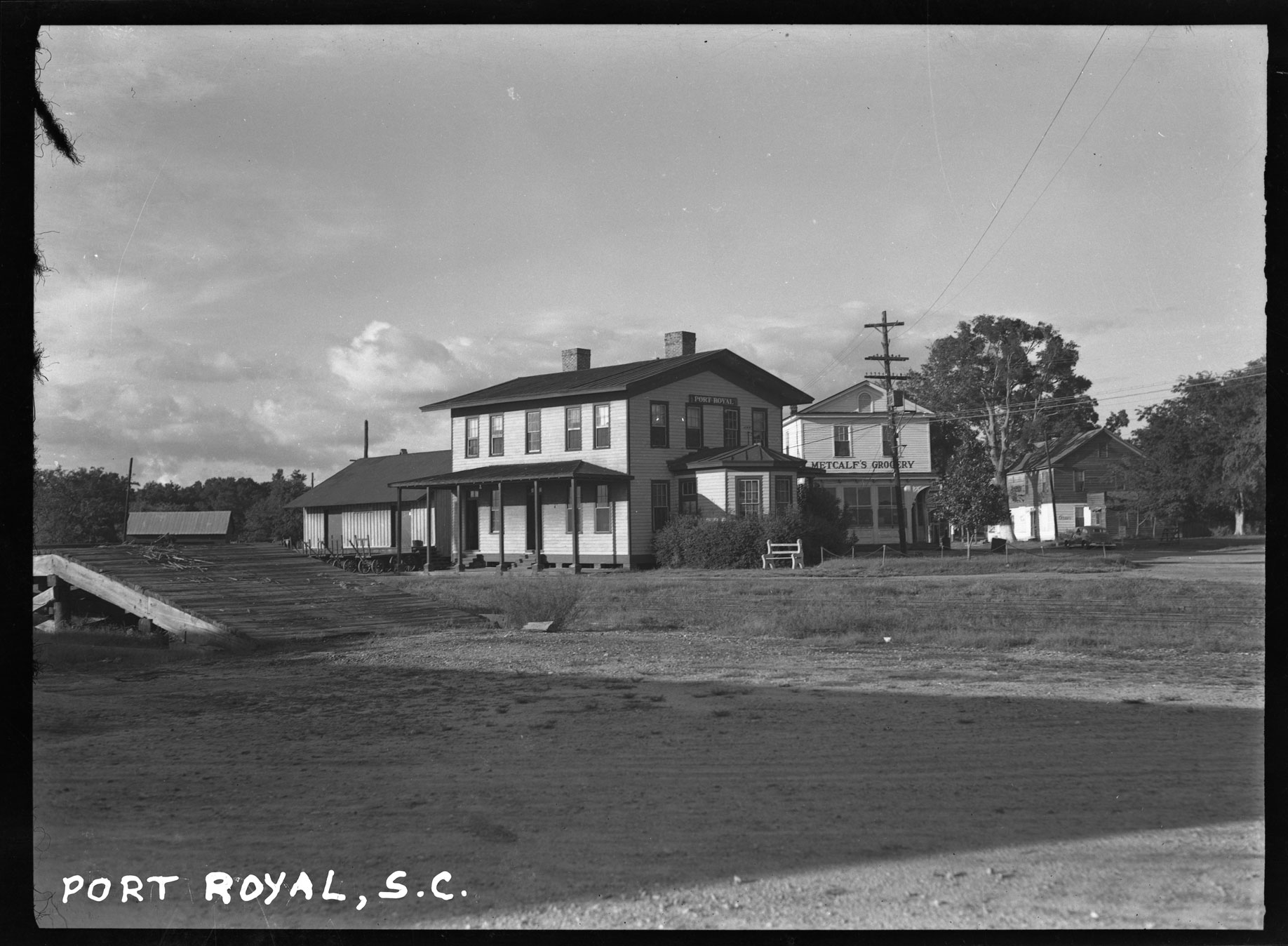 Port Royal, S.C. with Metcalf's Grocery in background