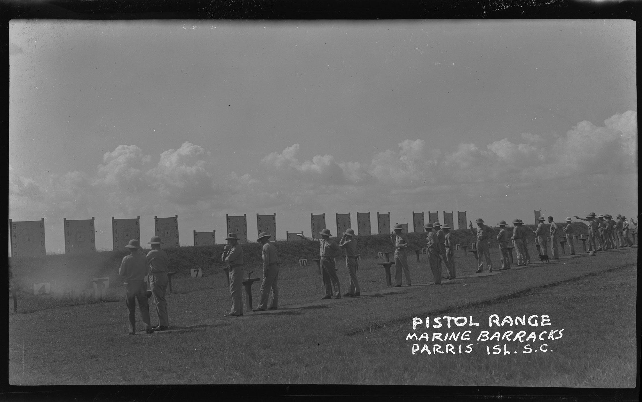 Pistol Range Marine Barracks Parris Isl. S.C. Rifle Range (Pistol Range)