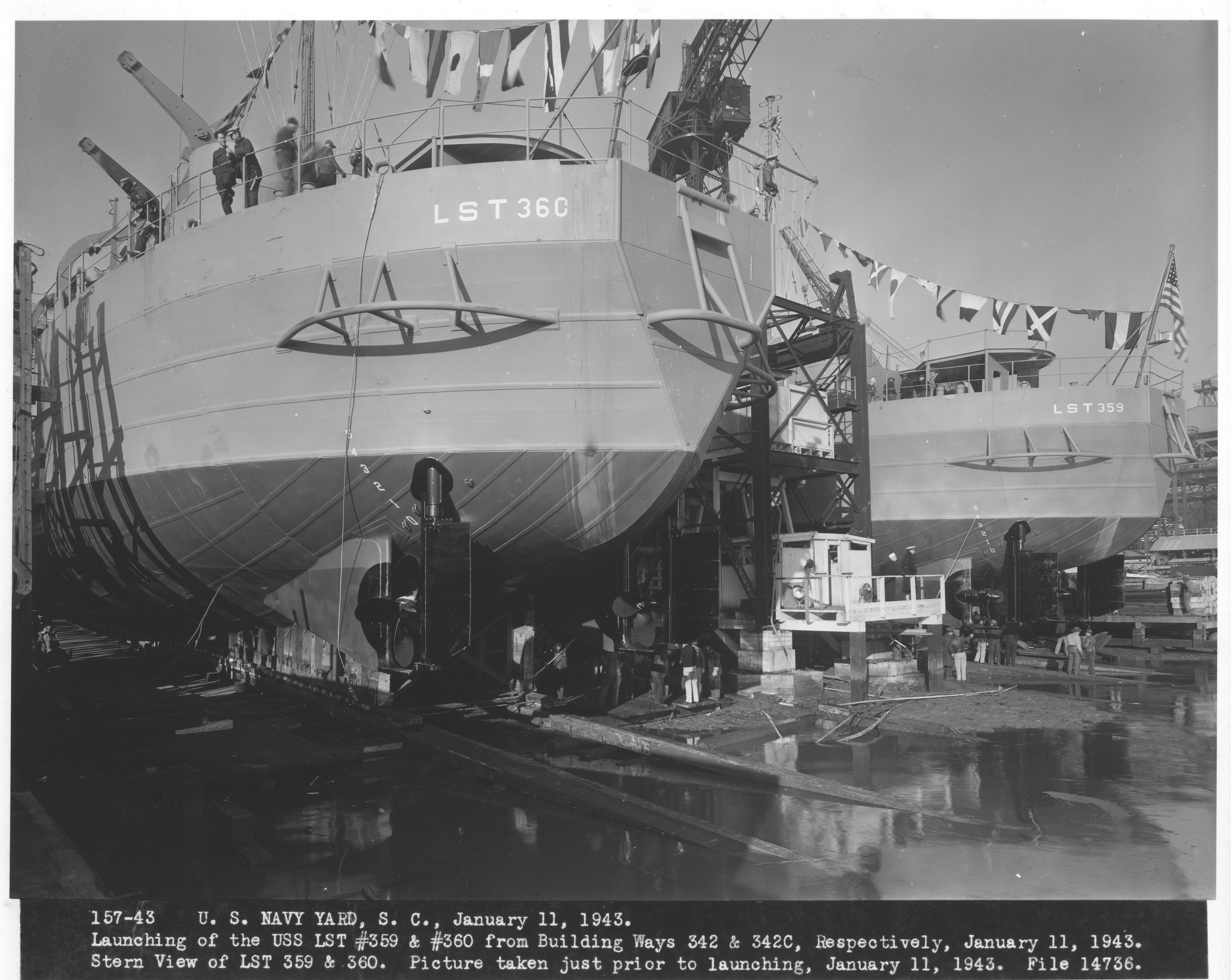 USS LST 359 and 360