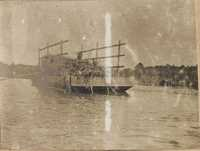 Loaded barge