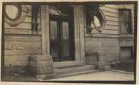 Entrance, probably the home of Christopher and Pauline Donner in Philadelphia