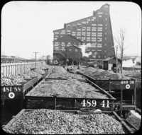 Shipping Coal-Coal Breaker in Background, Ashley, Pa.