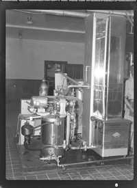 Industrial equipment inside Coca-Cola bottling plant