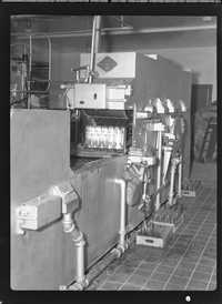 Bottling equipment in the Coca-Cola factory