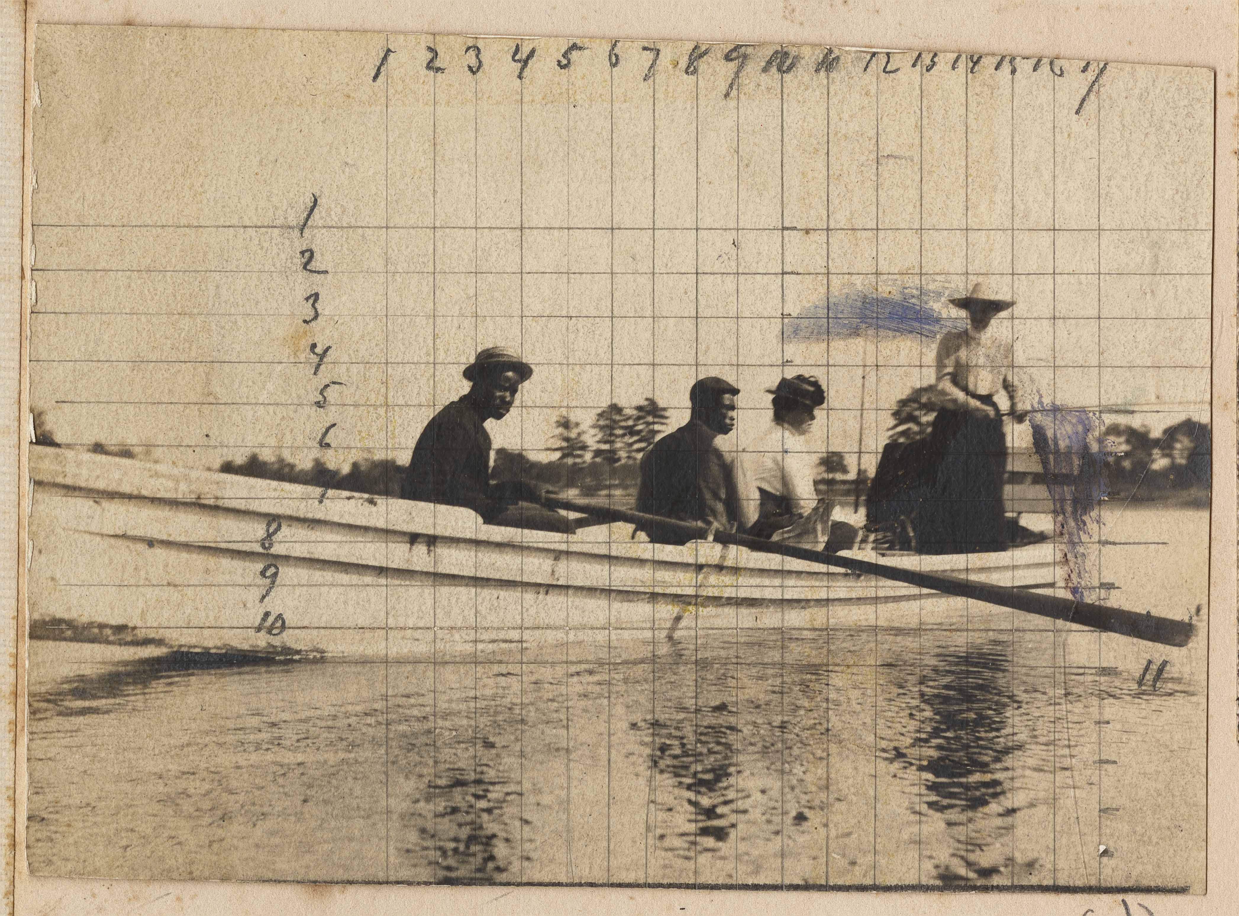 Four people in a boat