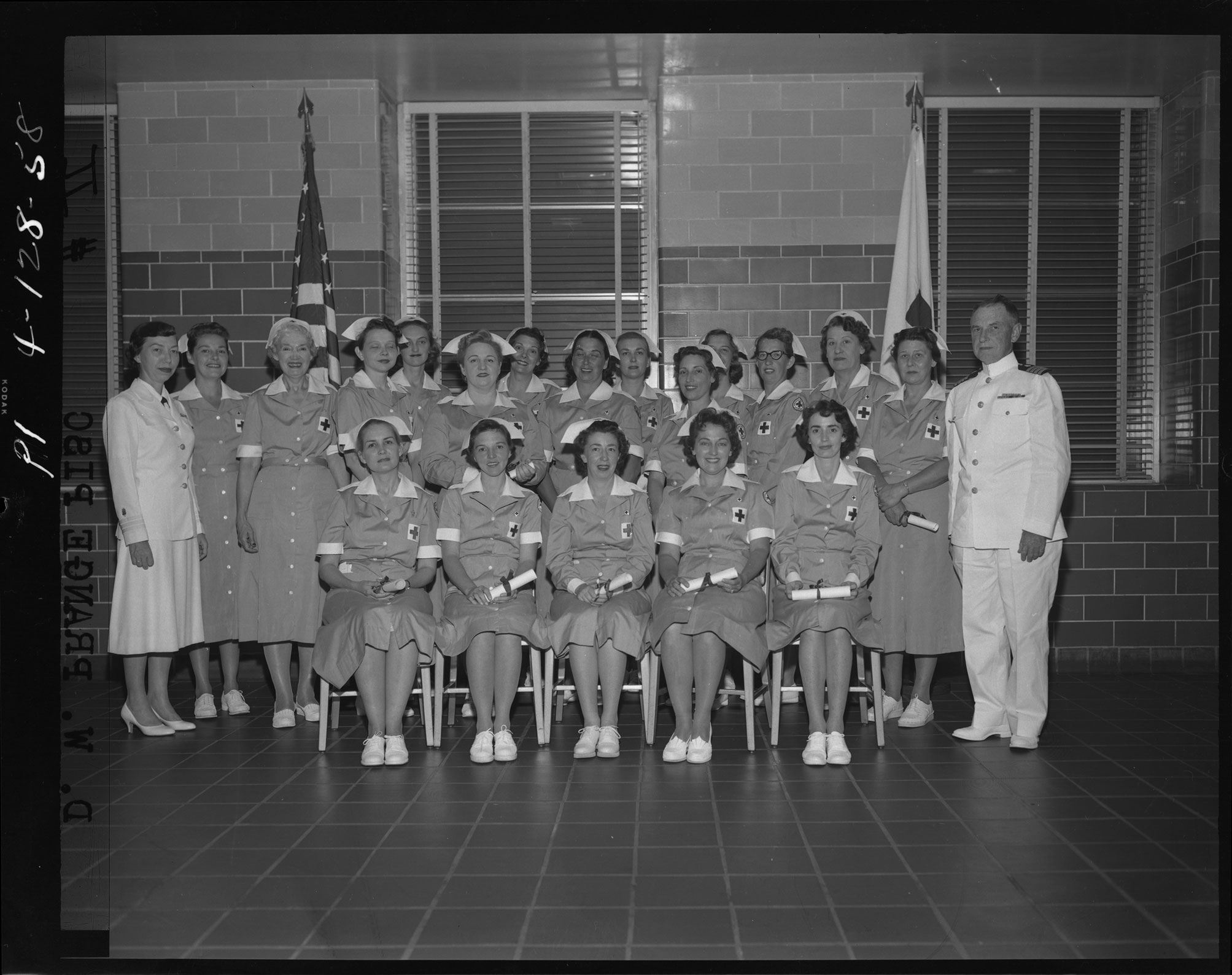 Capt. Reid and Nurses Aides (also known as Gray Ladies)