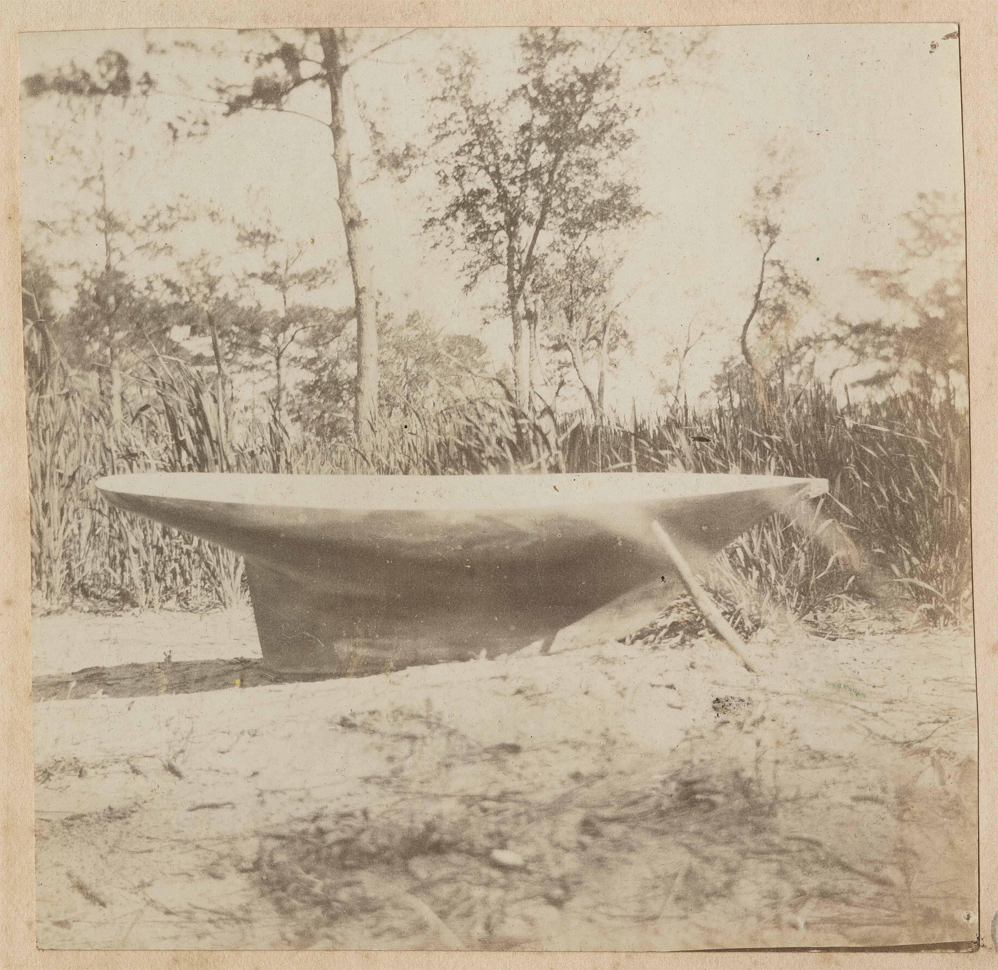 Completed model boat keel