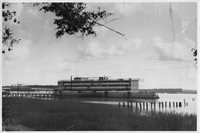 Amphritrite, a floating hotel used to relieve the housing shortage in Beaufort during World War II