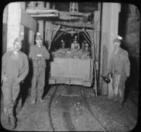 Loading Cage with Car of Coal at Bottom of Shaft, Scranton, Pa.
