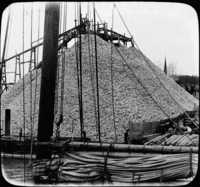 Oyster Shells for Bedding for Young Oysters, Hampton, Va.