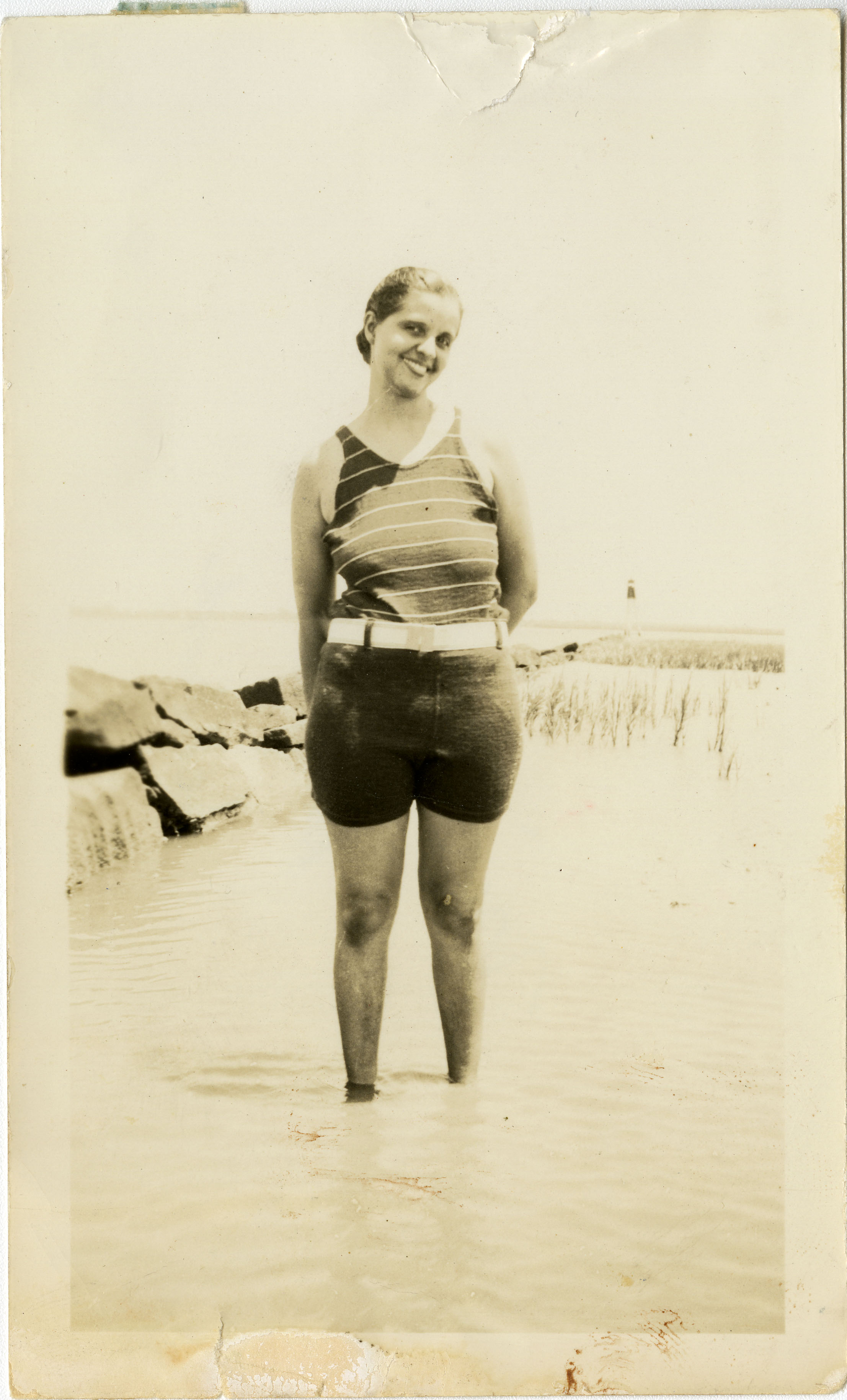 Miriam DeCosta Seabrook standing in water
