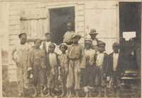 Group of unidentified African American children on Halls Island