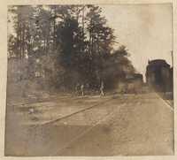 Men crossing tracks near Yemassee Junction.