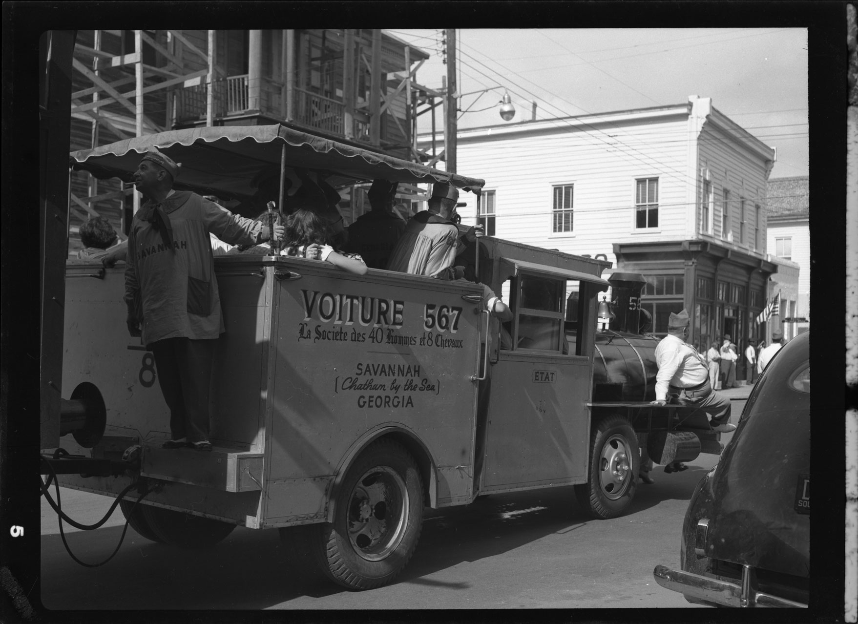 Voiture train of Savannah, Georgia in the 40 and 8 parade