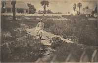Unidentified girl running on Chisolm's Island