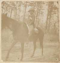 Benjamin Lawrence? astride horse at Yemassee Junction