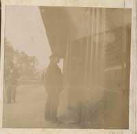 Men at train depot