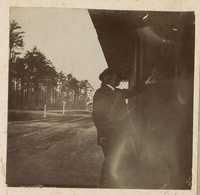 Man at train depot