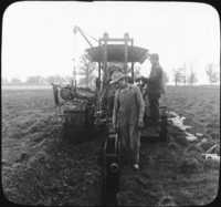 Digging Ditch with Tractor and Laying Drain Tile, Wis.