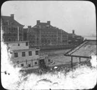 Immigrants Landing from Barge at Ellis Island, NY.