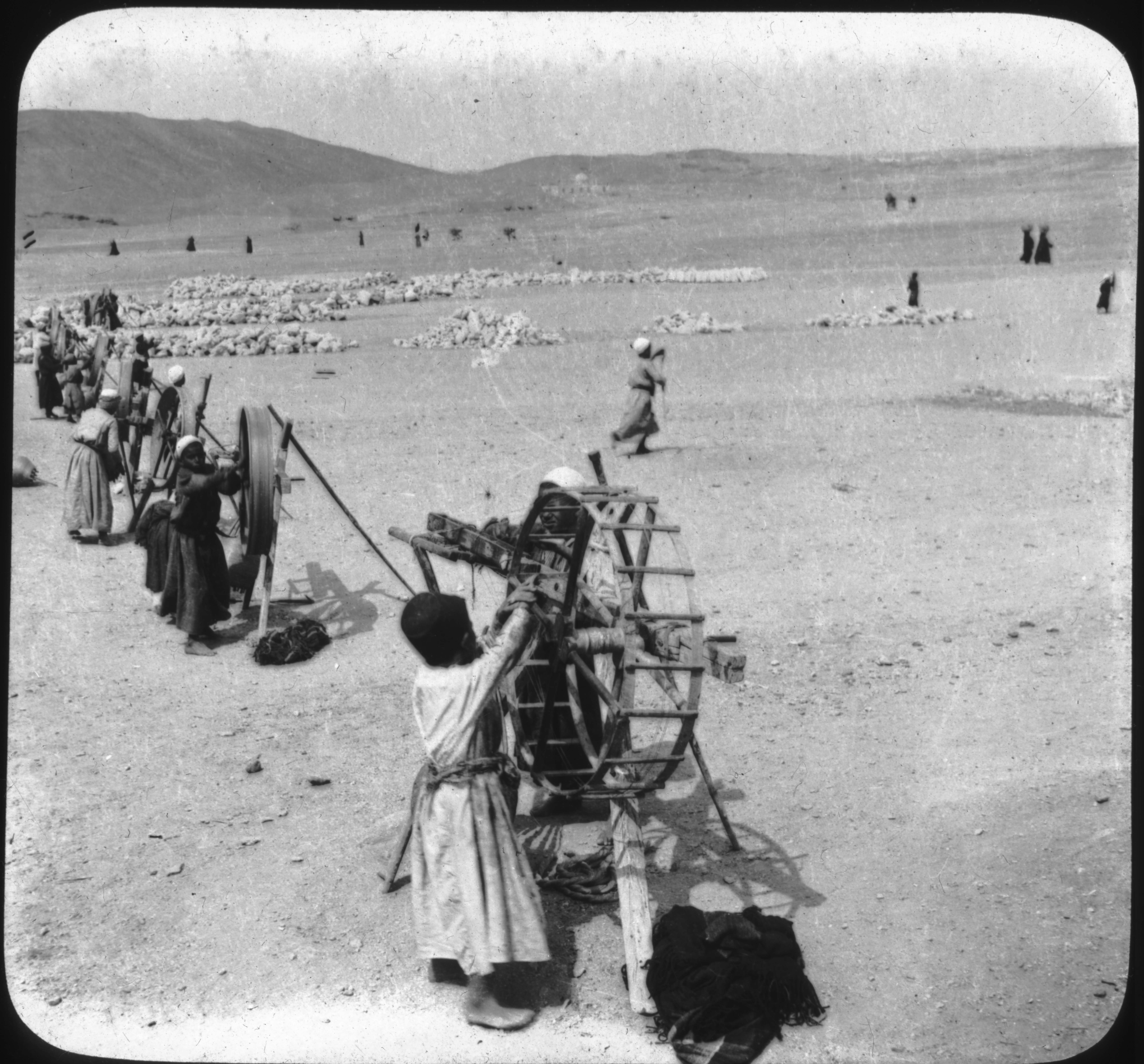 Native Boys Spinning Cotton, Egypt.