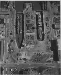 Aerial View of Shipyard