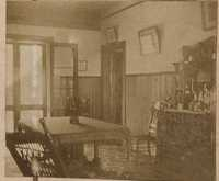 Interior view likely inside the Main House at Halls Island