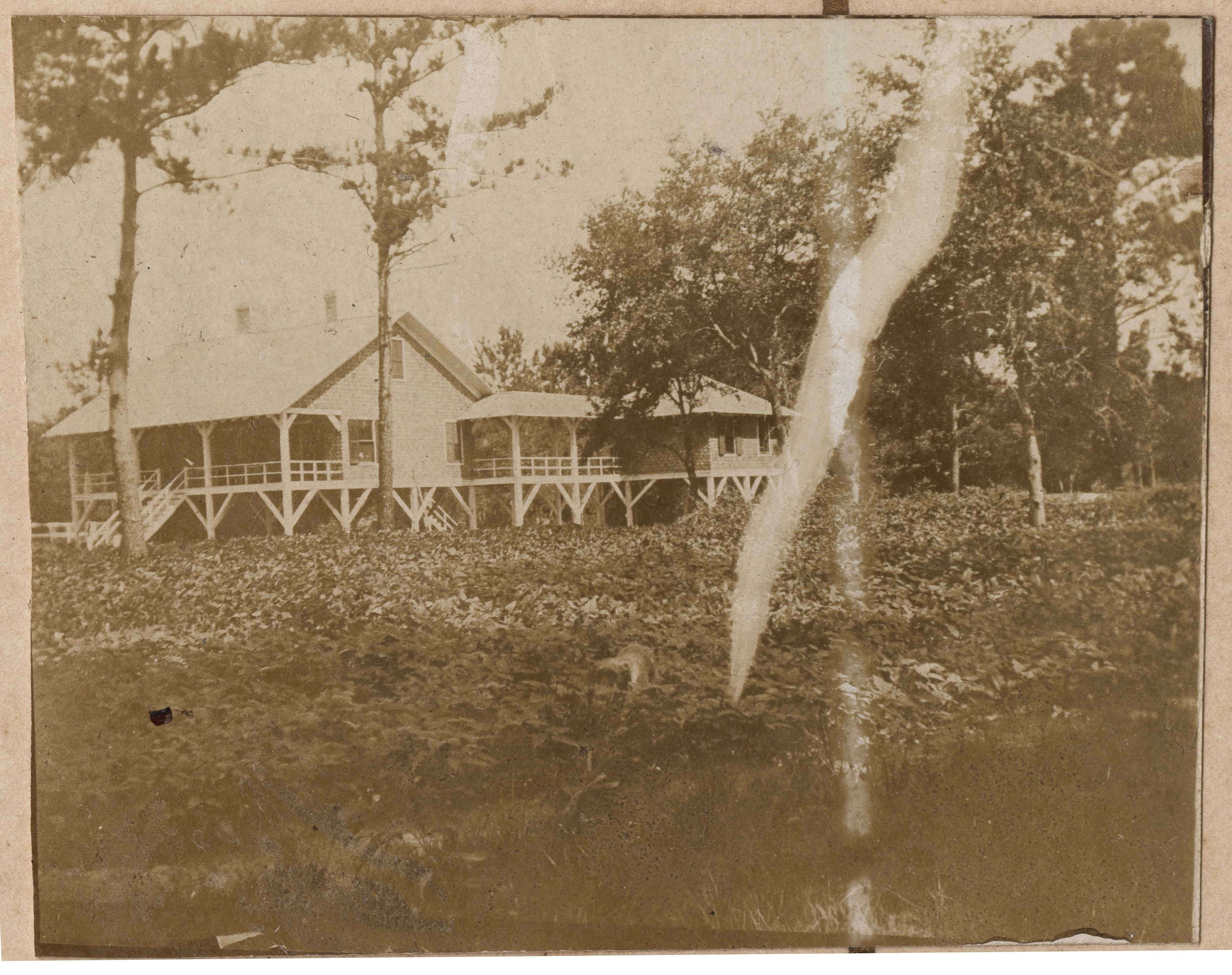 Another view of Main House at Halls Island from right showing right back porch