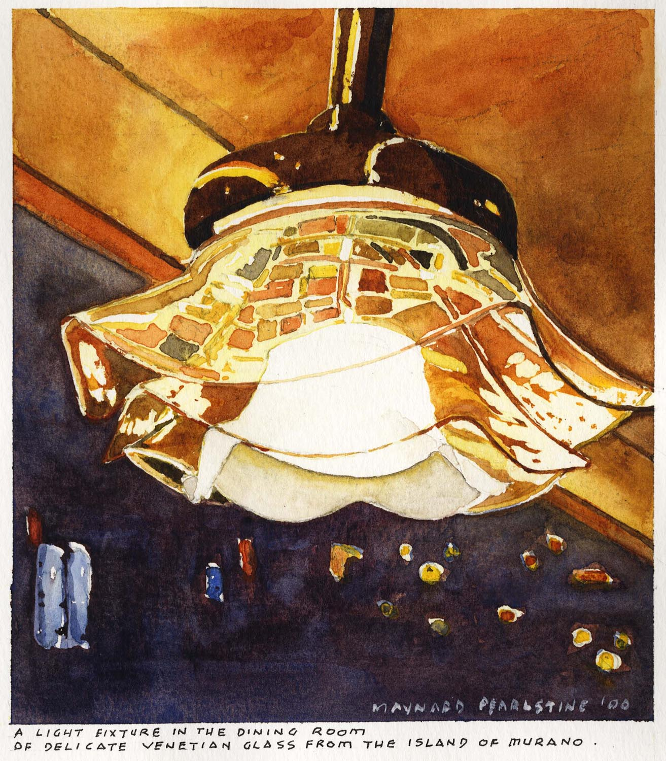 A Light Fixture in the Dining Room
