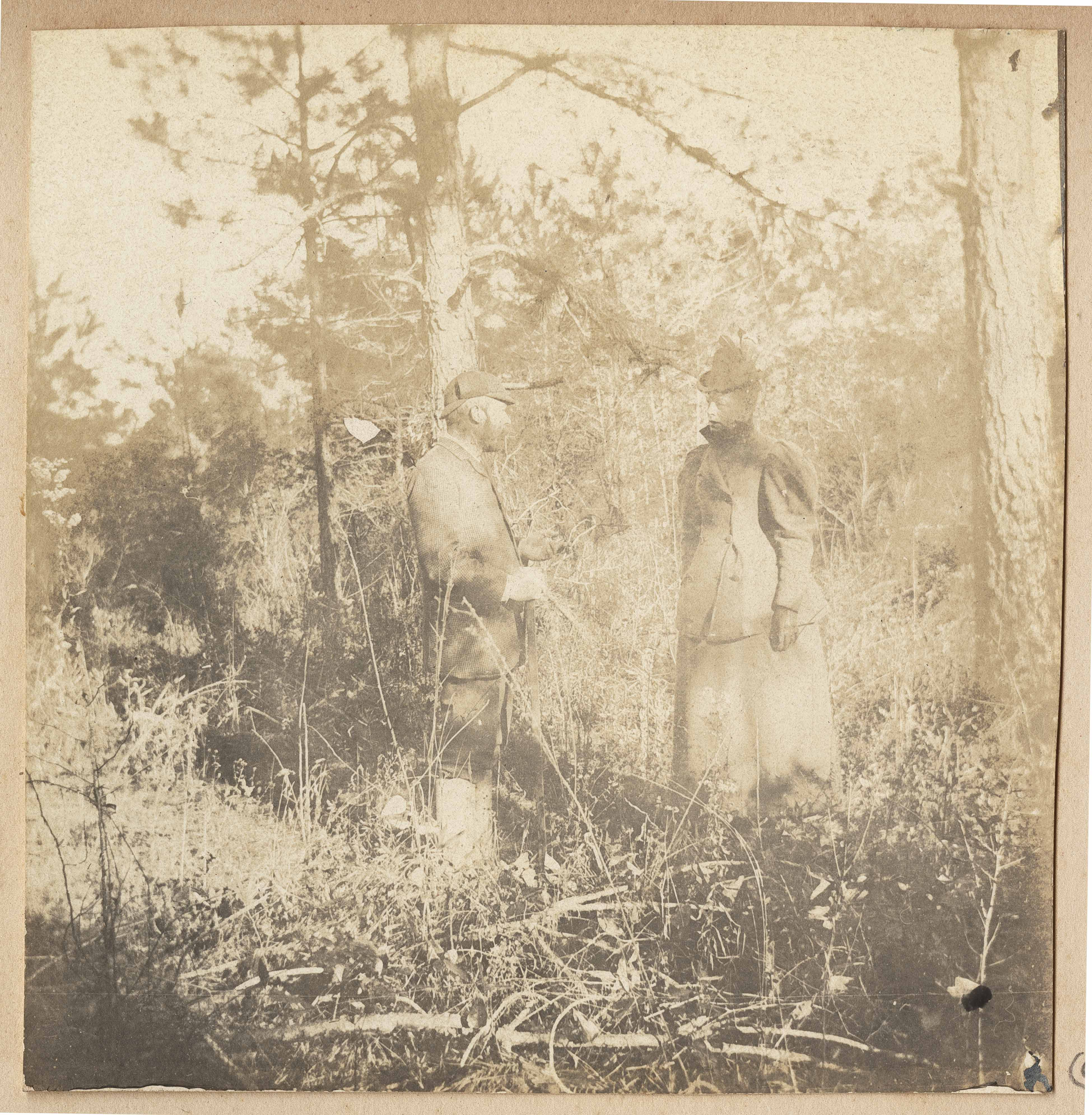Conrad Donner and Pauline Donner in woodland setting