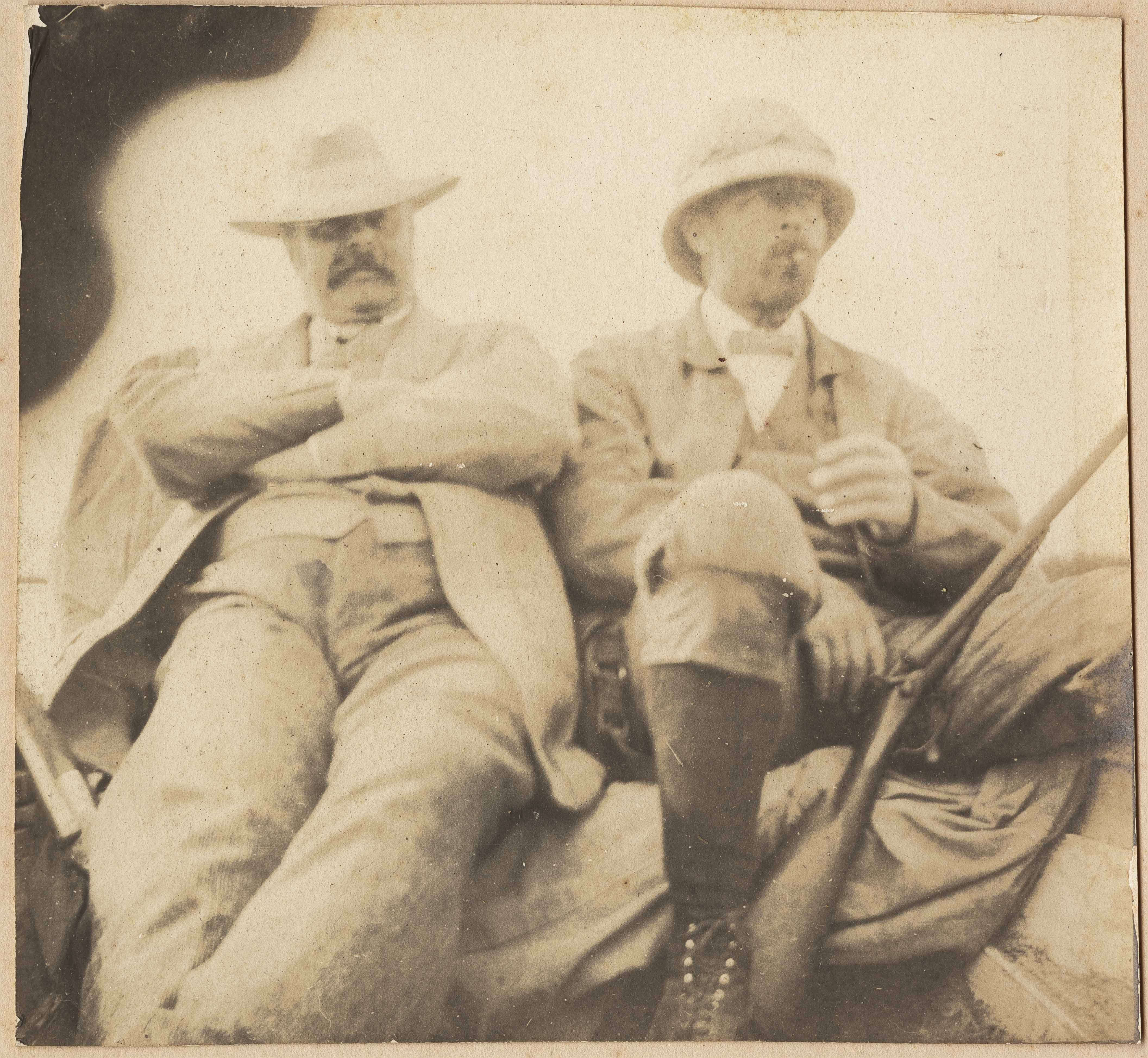 Christopher Donner and unidentified man on a hunt