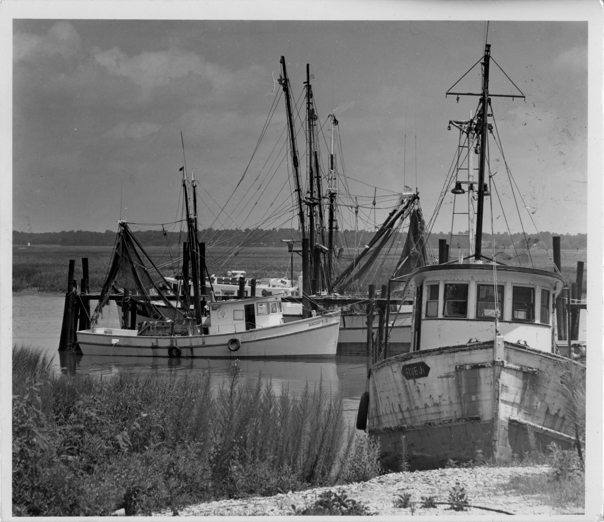Four shrimp boats: