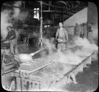 Pouring Molten Copper in Ingot Molds, Calumet, Mich.