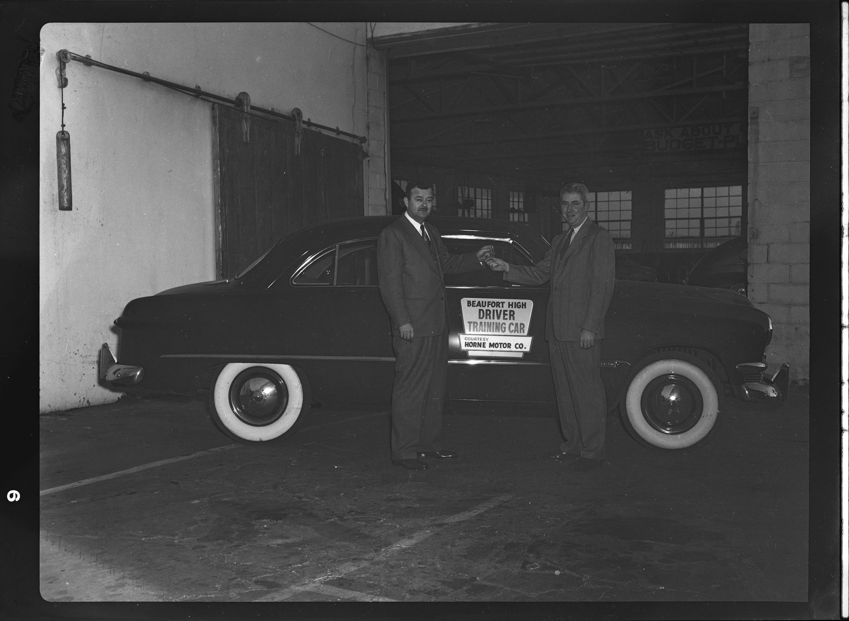 Beaufort High Driver Training Car courtesy of Horne Motor Company