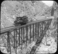 The Cofa Bridge on the Oroya Railway, Peru.