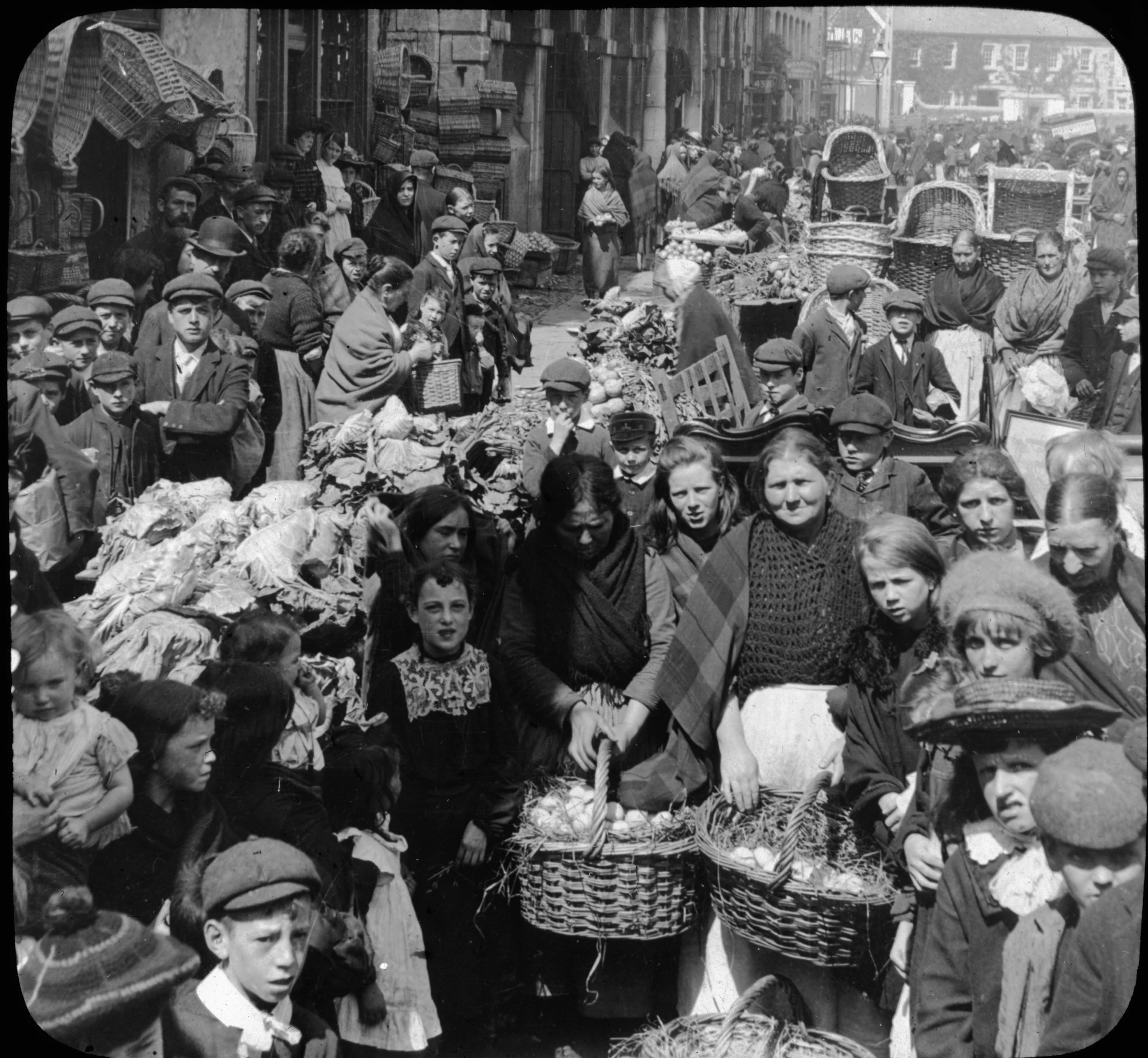 Street Market in Cork, Ireland.