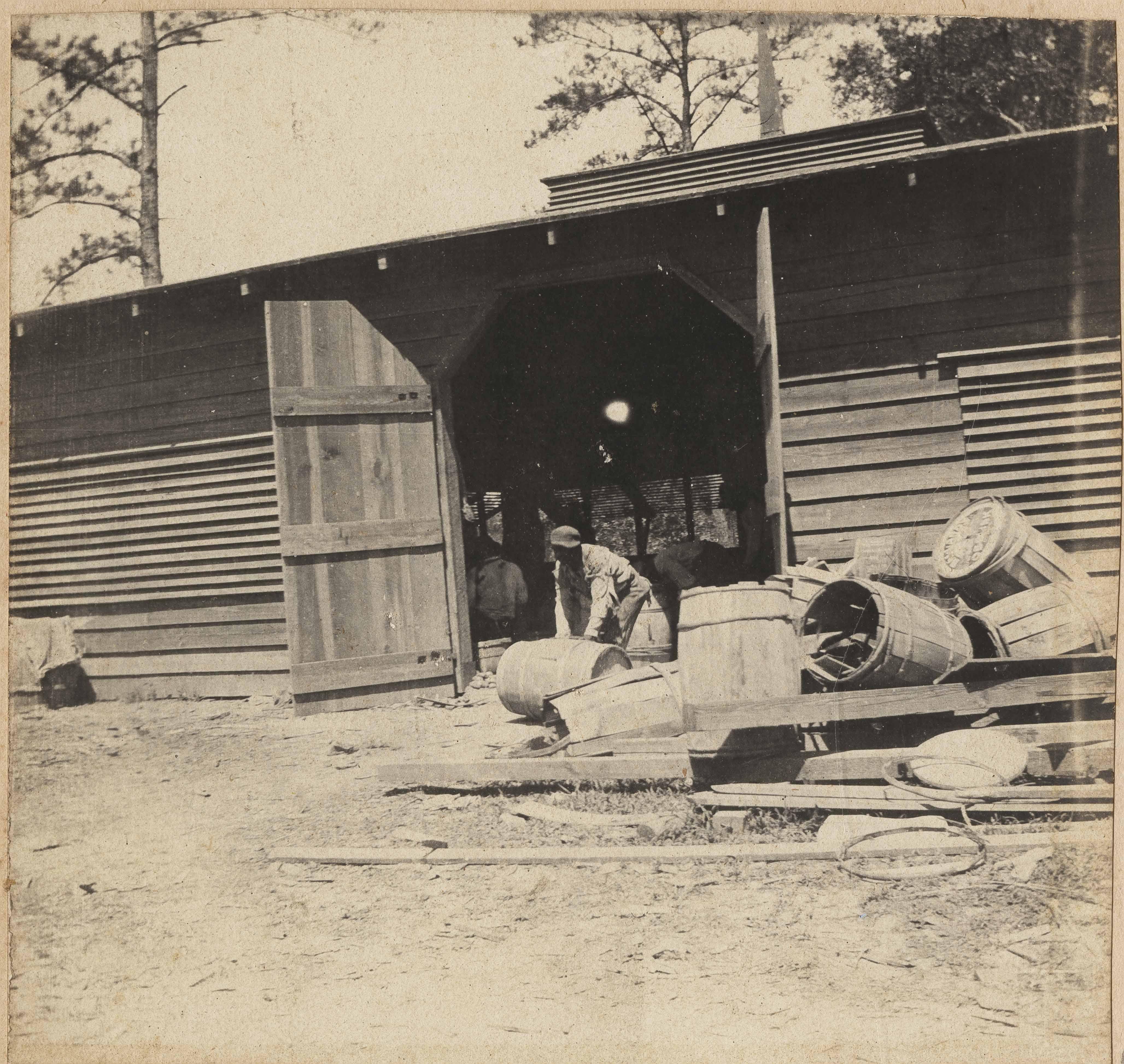 Man with damaged barrels