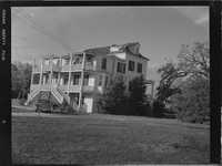 Hurricane Gracie damage at Sheriff McTeer's Coffin Point Plantation Home