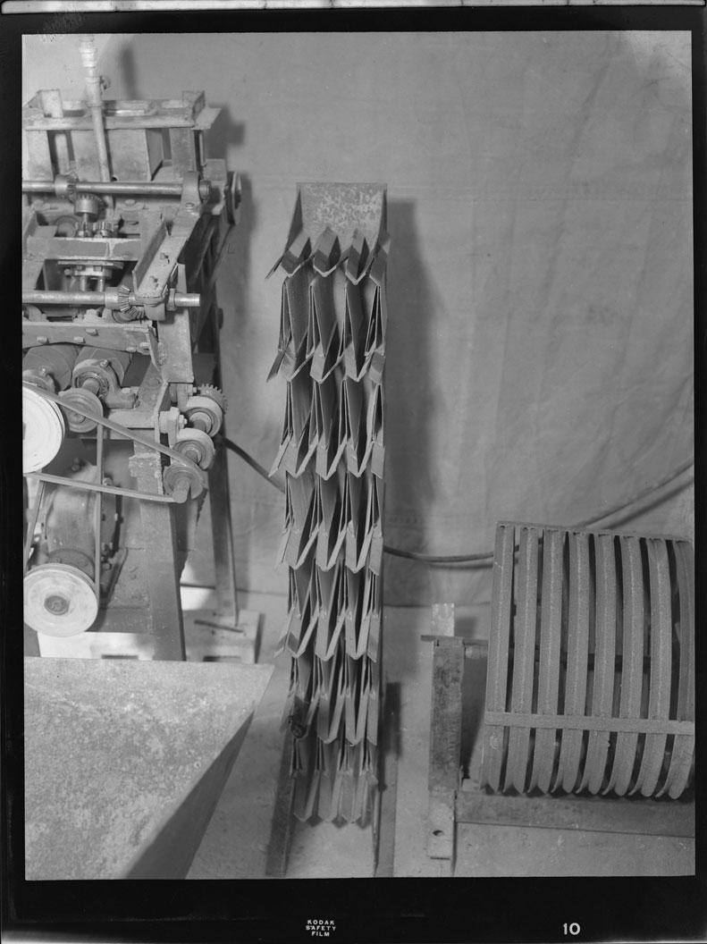 Shrimp de-heading machine at Politzer factory