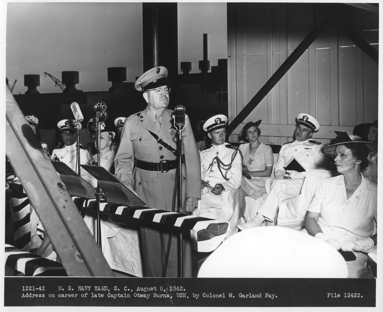 Capt. Otway Burns Career Address 1942
