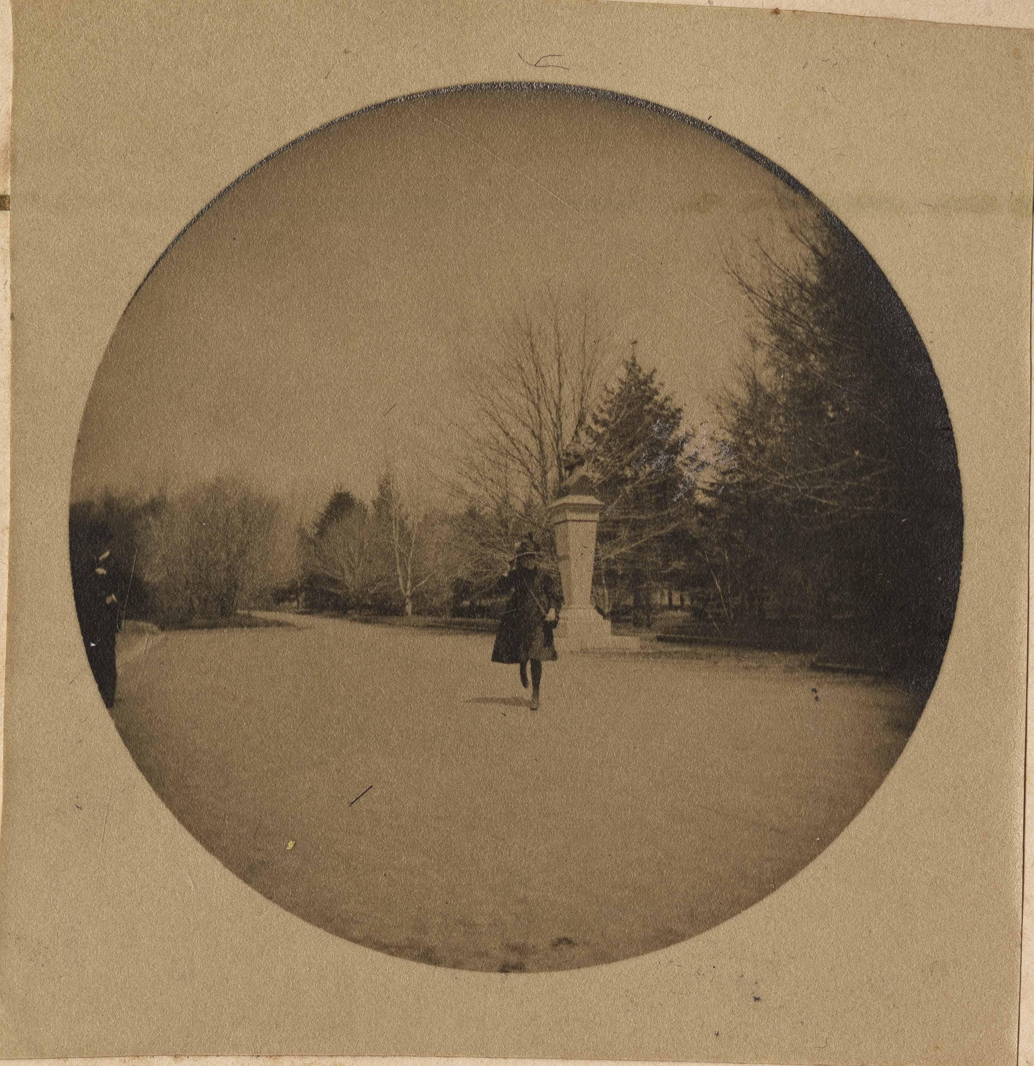 Girl strolling in park