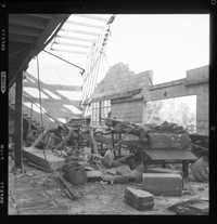 Interior damage at G.W. Trask packing shed