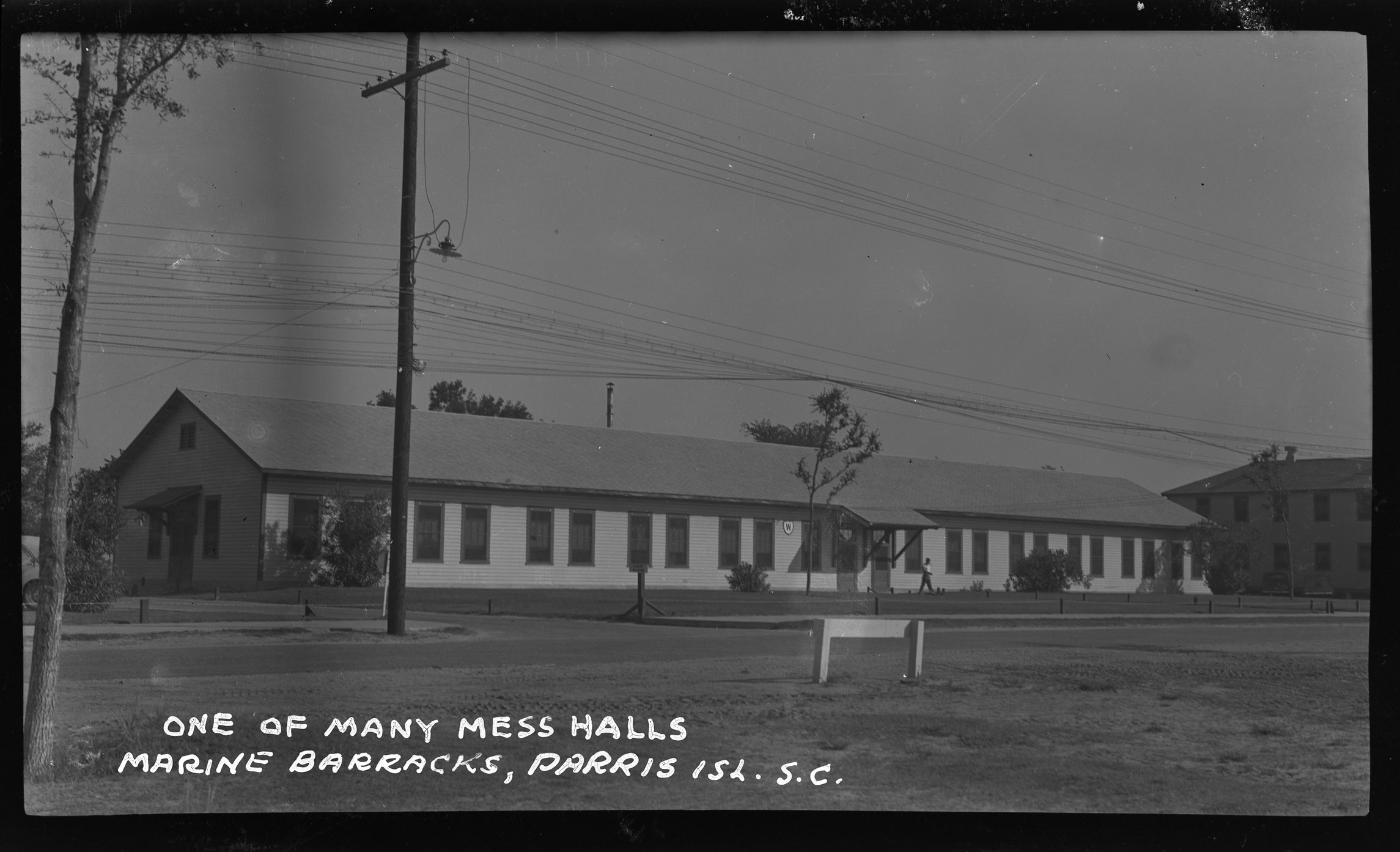 One of Many Mess Halls Marine Barracks Parris Isl. S.C.