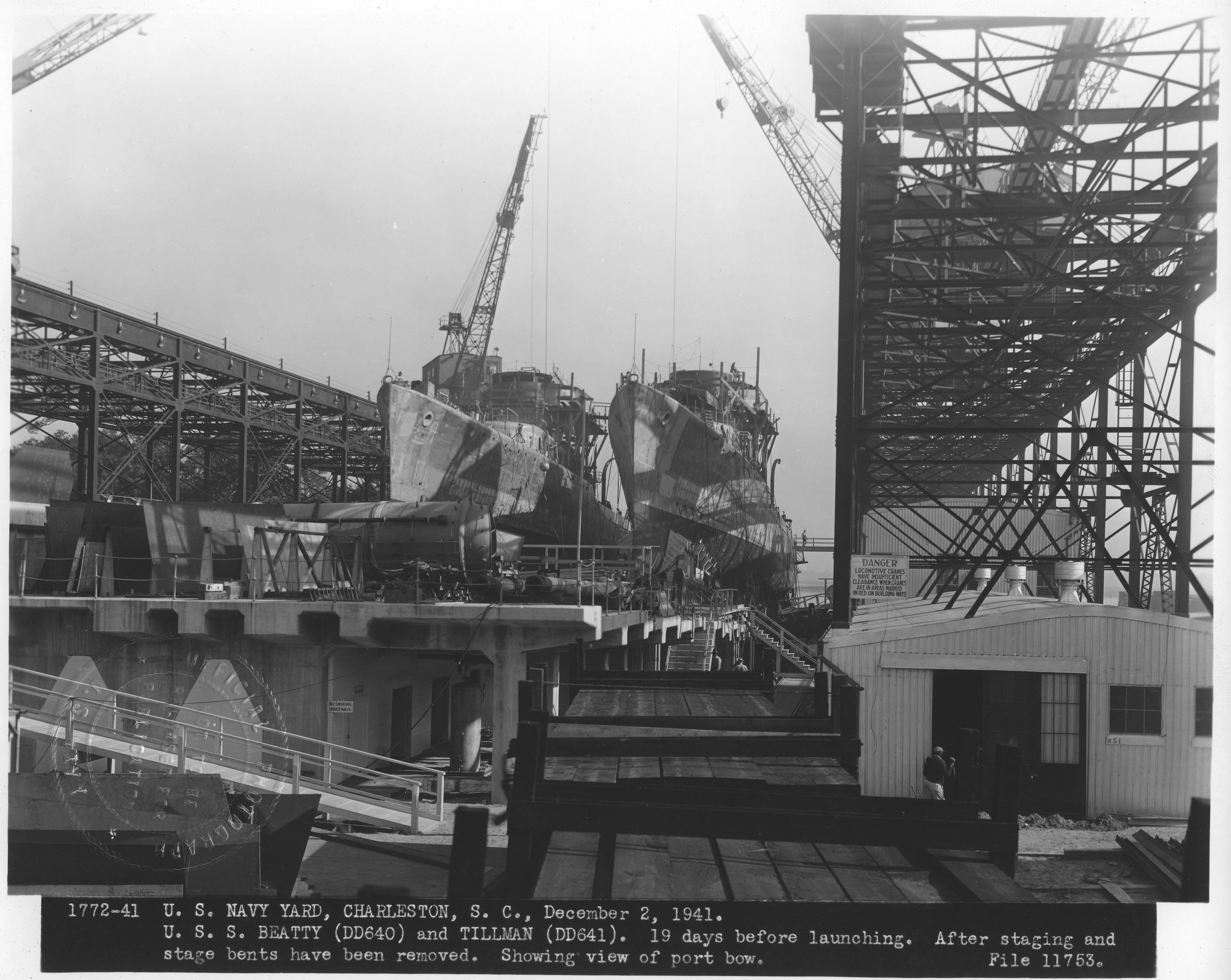 USS Beatty (DD640) and USS Tillman