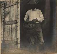 Man in railroad car doorway