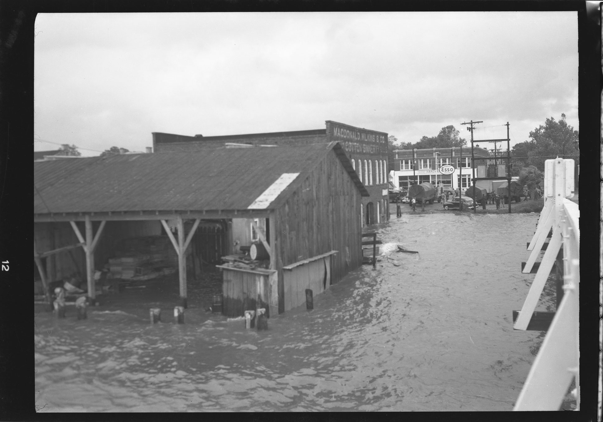 Flooding at Macdonalds, Wilkins & Co. Cotton Ginnery