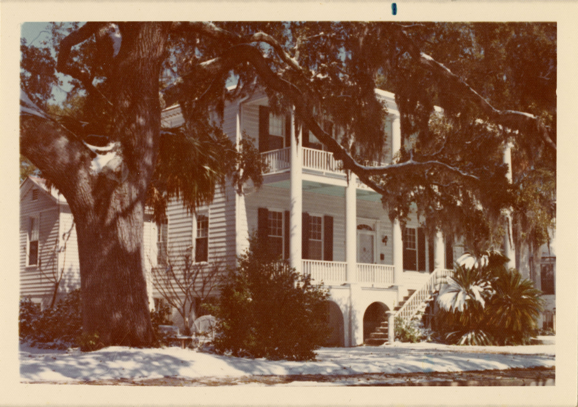 Robert Means House in snow