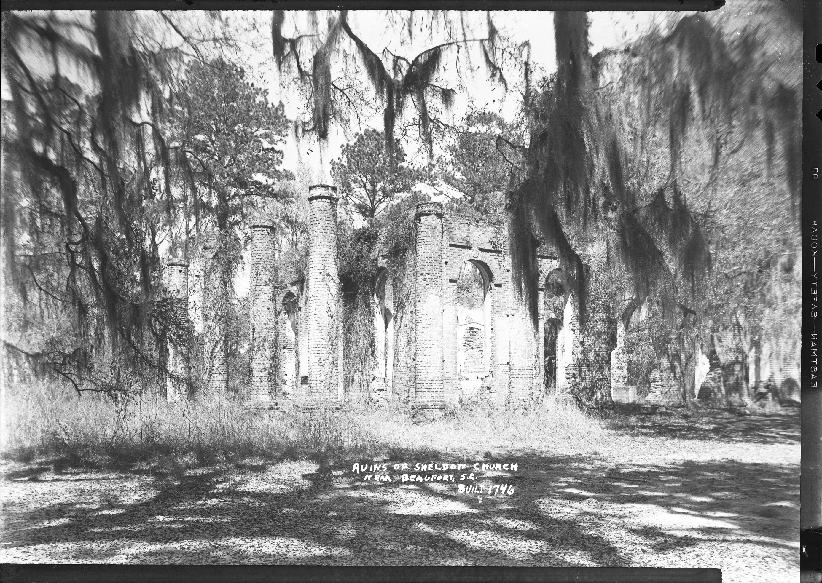 Ruins of Sheldon Church near Beaufort, S.C. Built 1746.